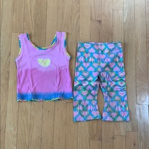 ADORABLE little girl's psychedelic matching set